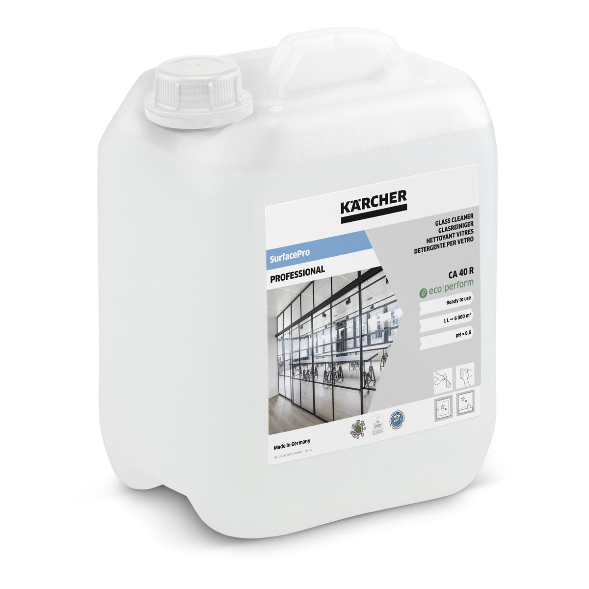 Üvegtisztító CA 40 R, használatra kész
